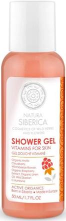 Želė dušui su vitaminais Natura Siberica, 50 ml