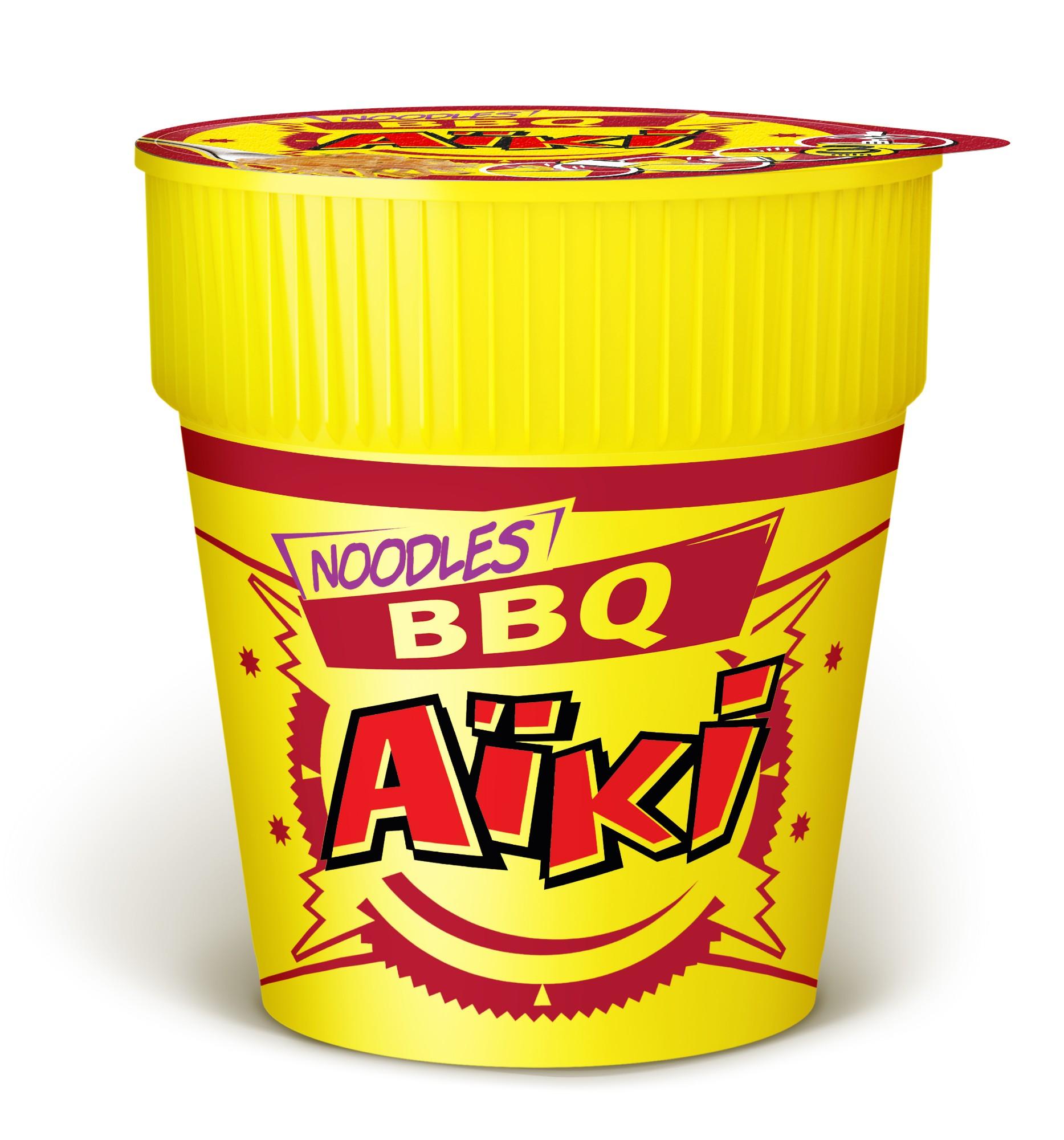 """Greitai paruošiami """"BBQ"""" skonio makaronai, AIKI, 1 indelis (70,5g.)"""