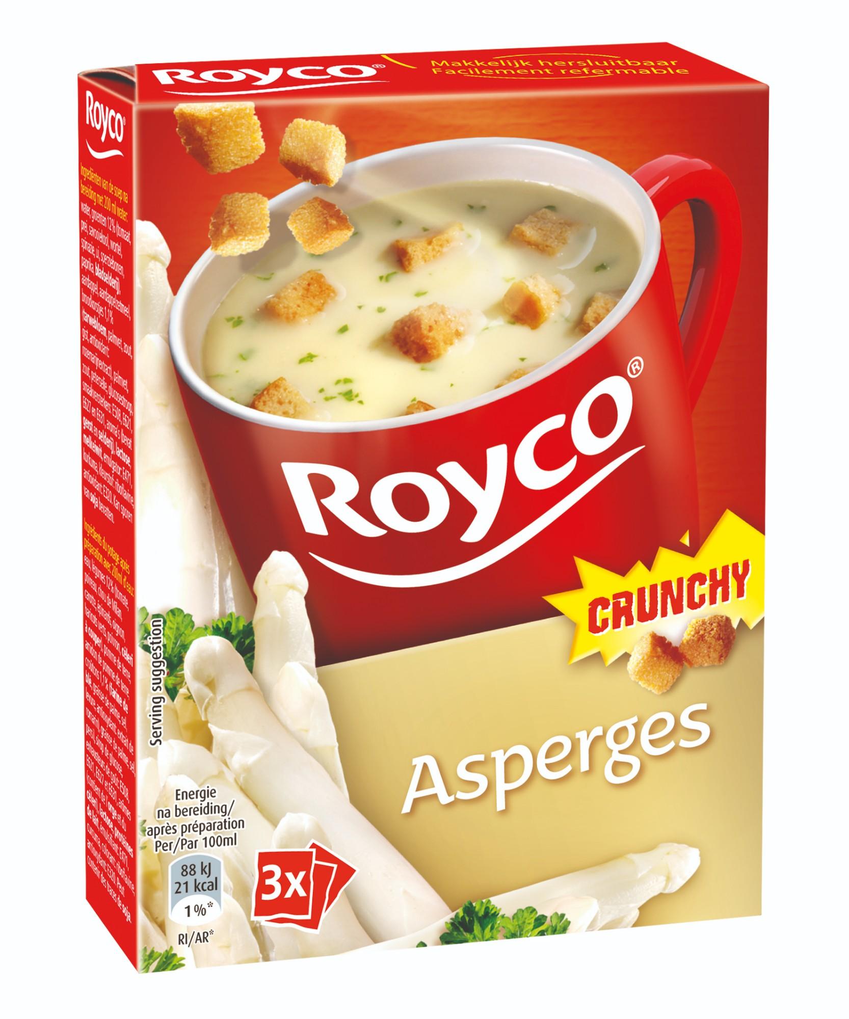 Greitai paruošiama sriuba su traškiais šparagais, ROYCO, 3 pak.