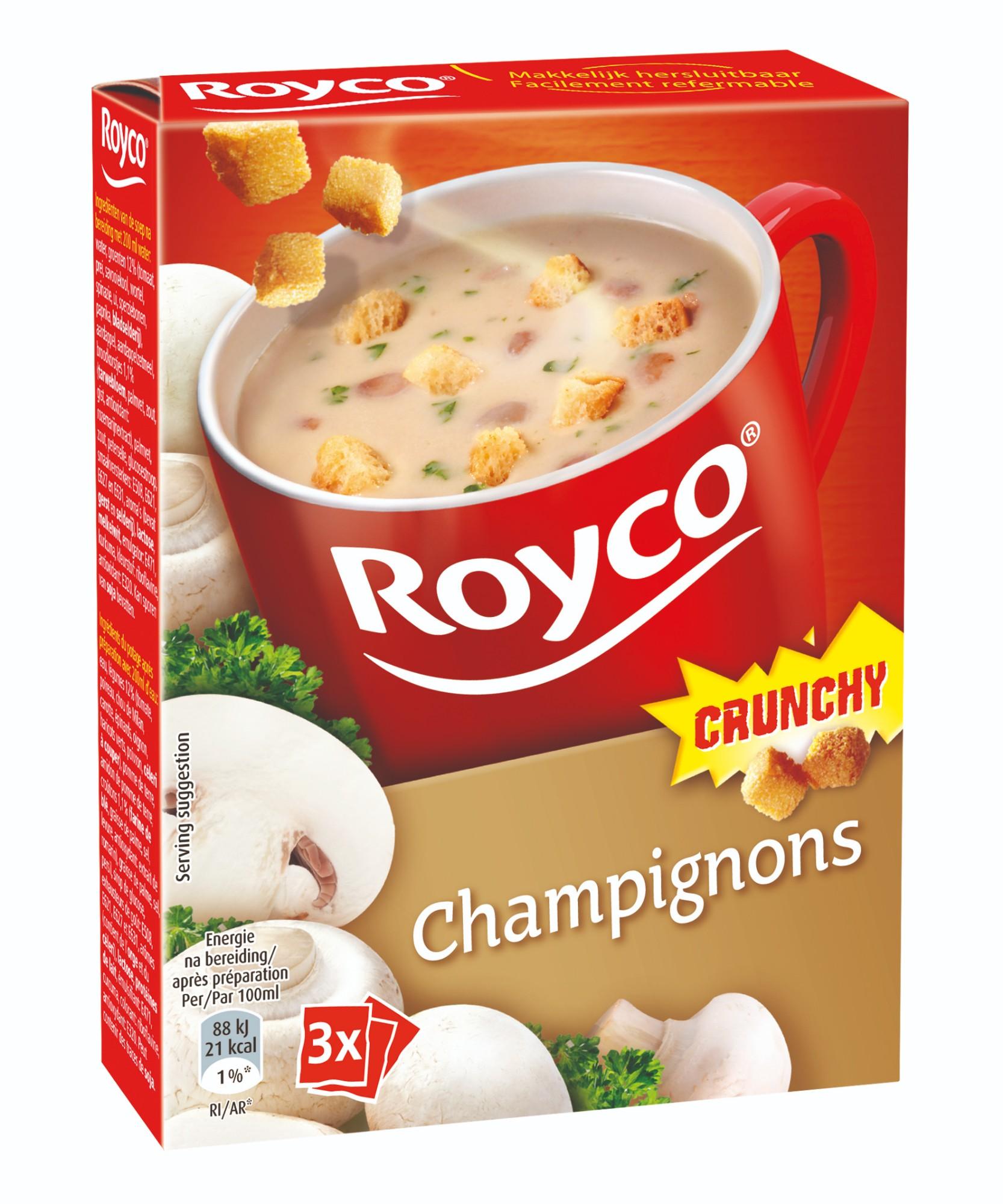 Greitai paruošiama sriuba su traškiais grybais, ROYCO, 3 pak.