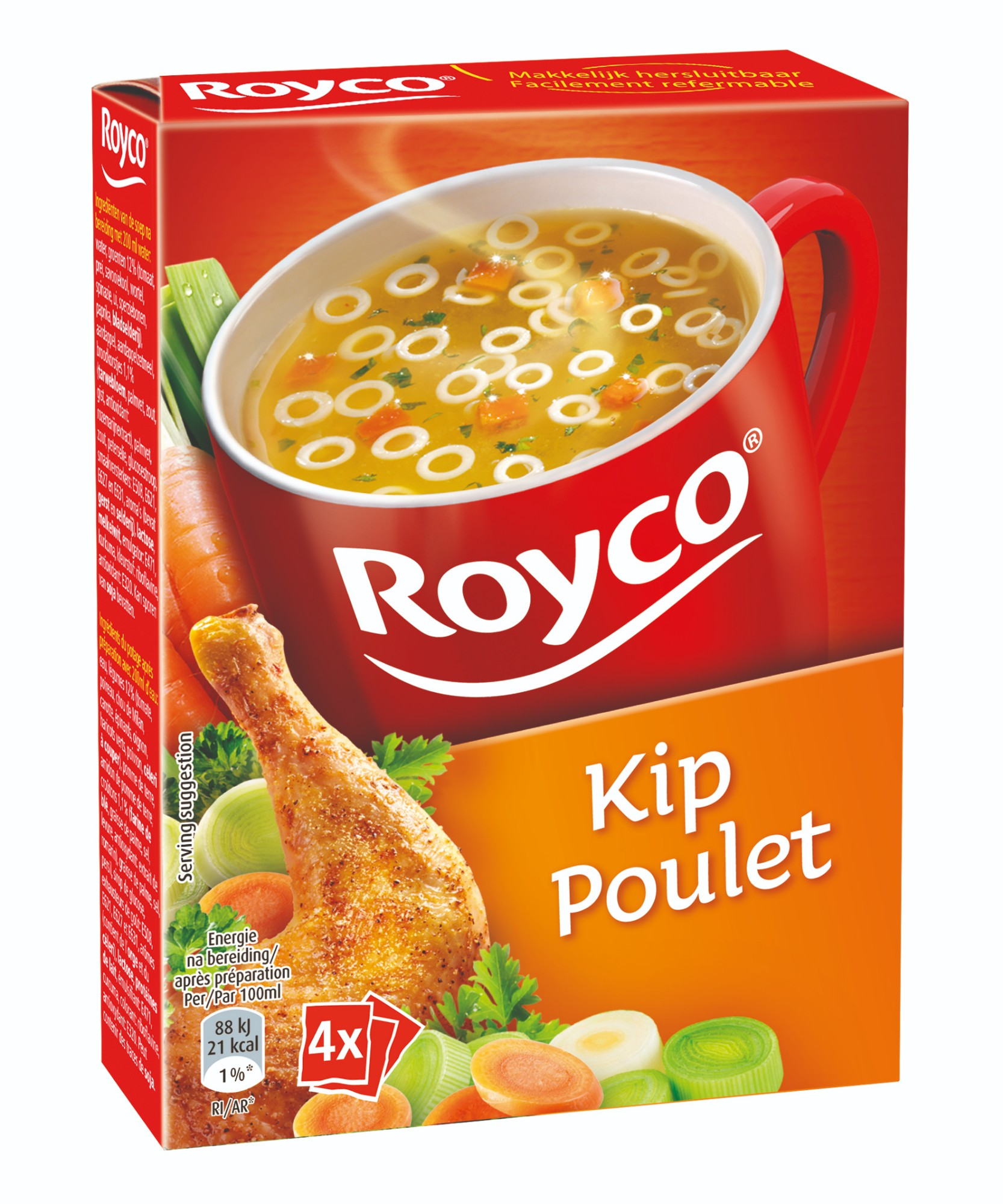 Greitai paruošiama klasikinė vištienos sriuba, ROYCO, 4 pak.