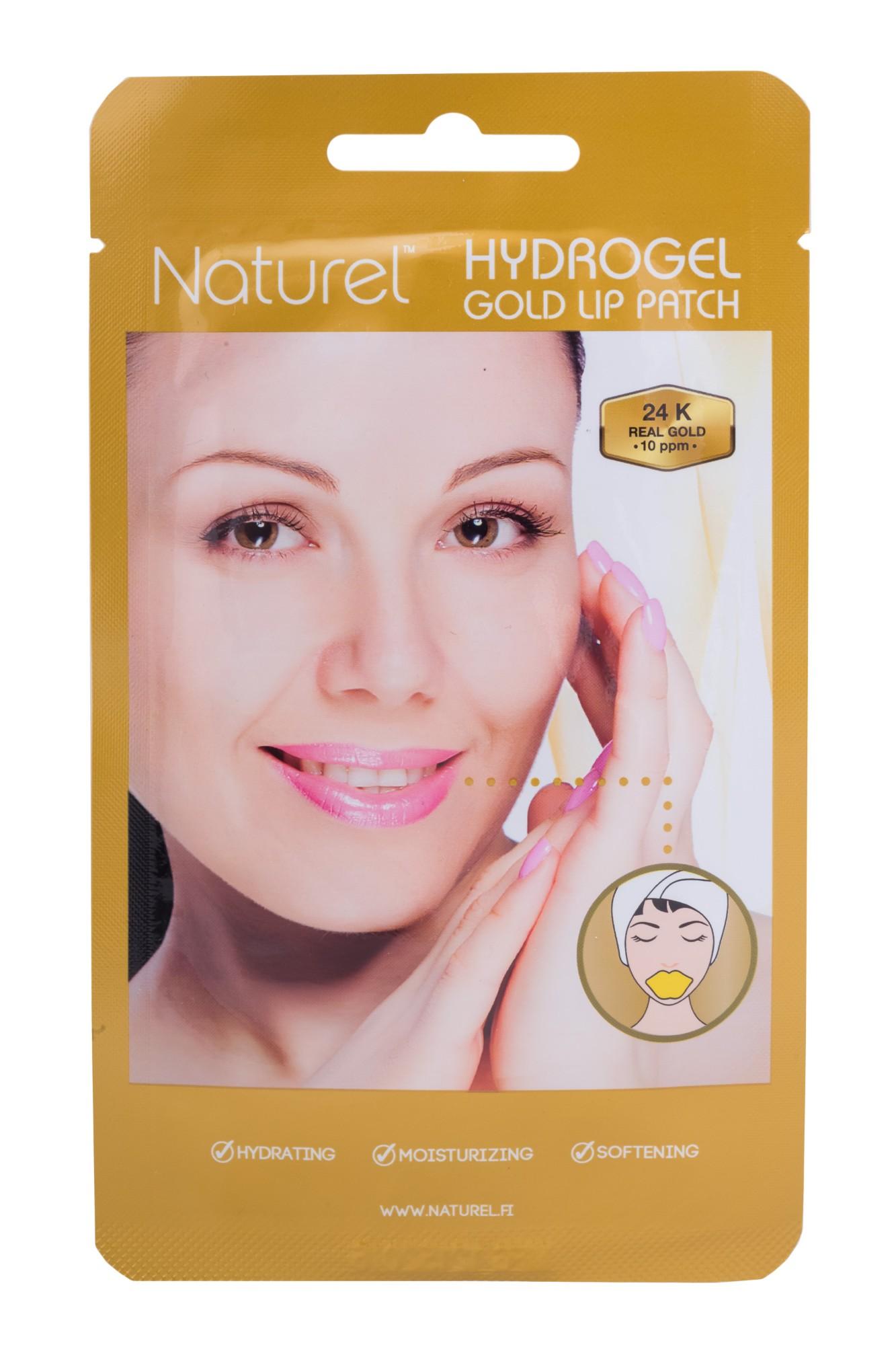 Drėkinamoji hidrogelio lūpų kaukė Naturel su 24K auksu, 2,5g