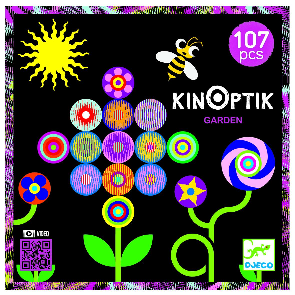 Optinės iliuzijos dėlionė DJECO Kinoptic Garden (DJ05602)