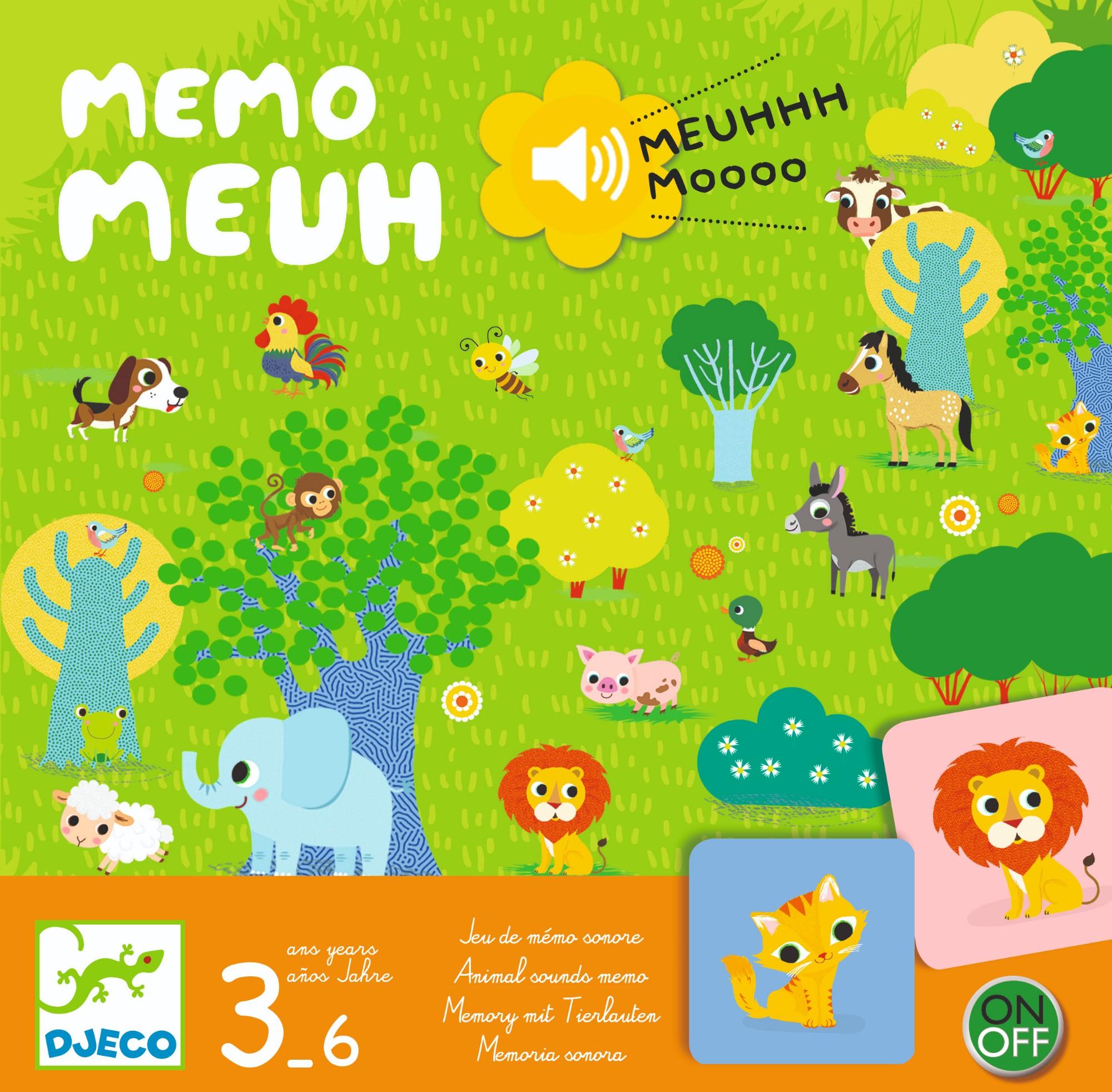 Žaidimas su gyvūnų balsais DJECO Memo Meuh (DJ08482)