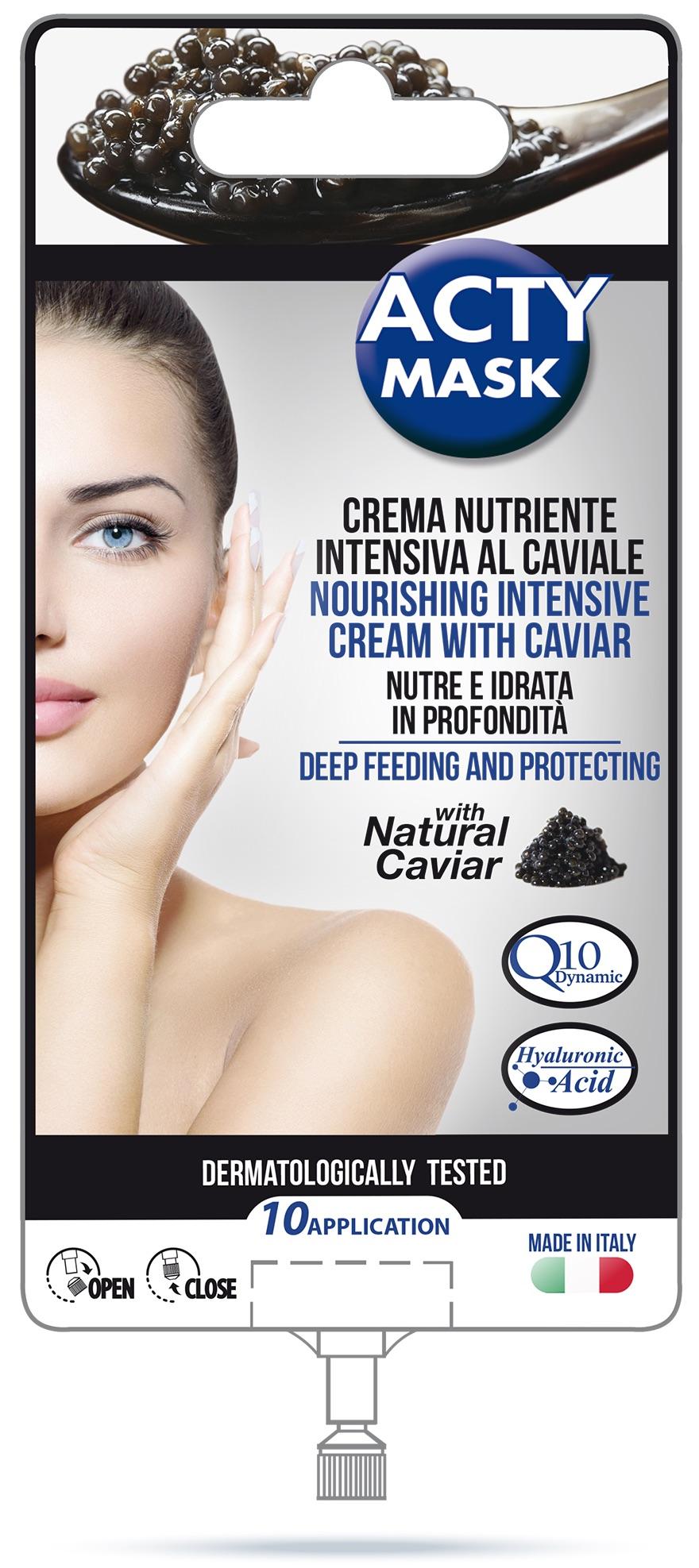 Maitinantis veido kremas – kaukė su juodųjų ikrų ekstraktu ACTY MASK Q10, 15ml
