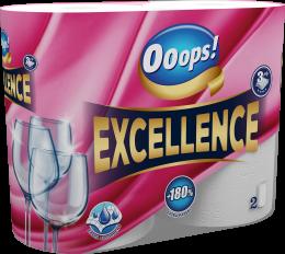 Popieriniai rankšluoščiai OOOPS! Excellence (3 sluoksniai), 2 ritinėliai