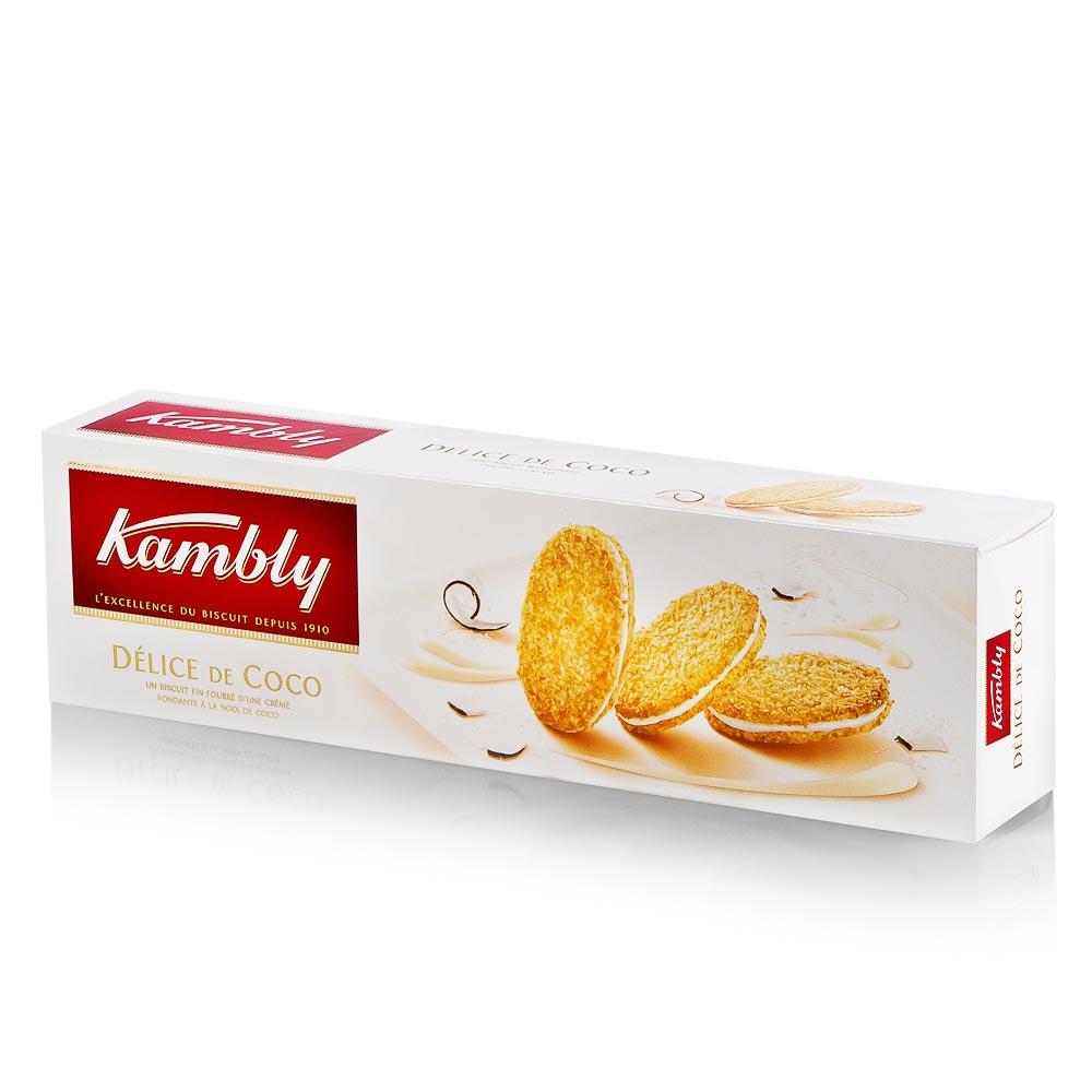 Sausainiai KAMBLY su kokosiniu kremu, 80g