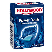 Kramtomoji guma HOLLYWOOD Power fresh, 14 g