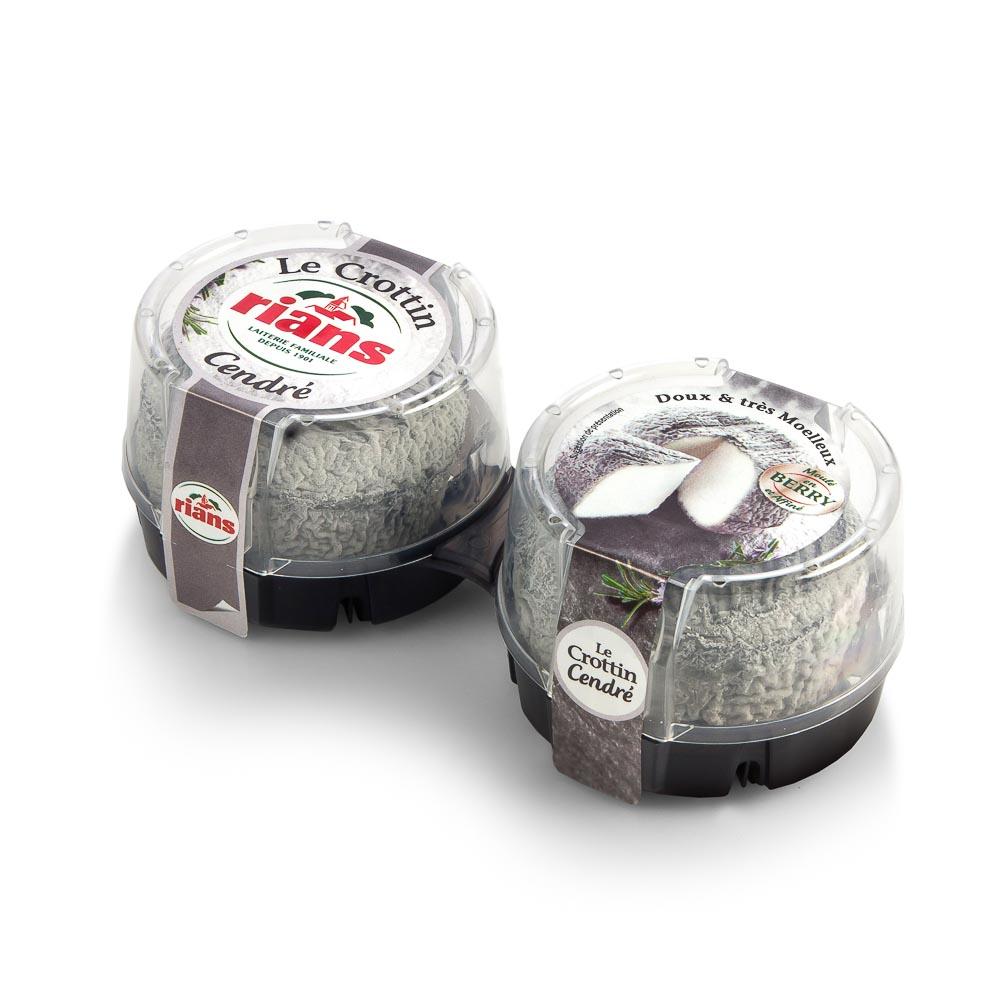 Sūris CROTTIN CENDRE, 22% riebumo, 2×60 g