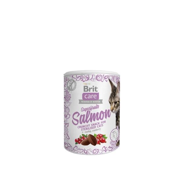 Skanėstas katėms BRIT CARE Superfruits lašiša, 100g