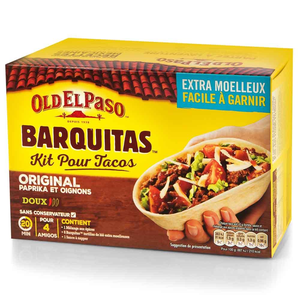BARQUITAS tortilijų rinkinys OLD EL PASO 345g