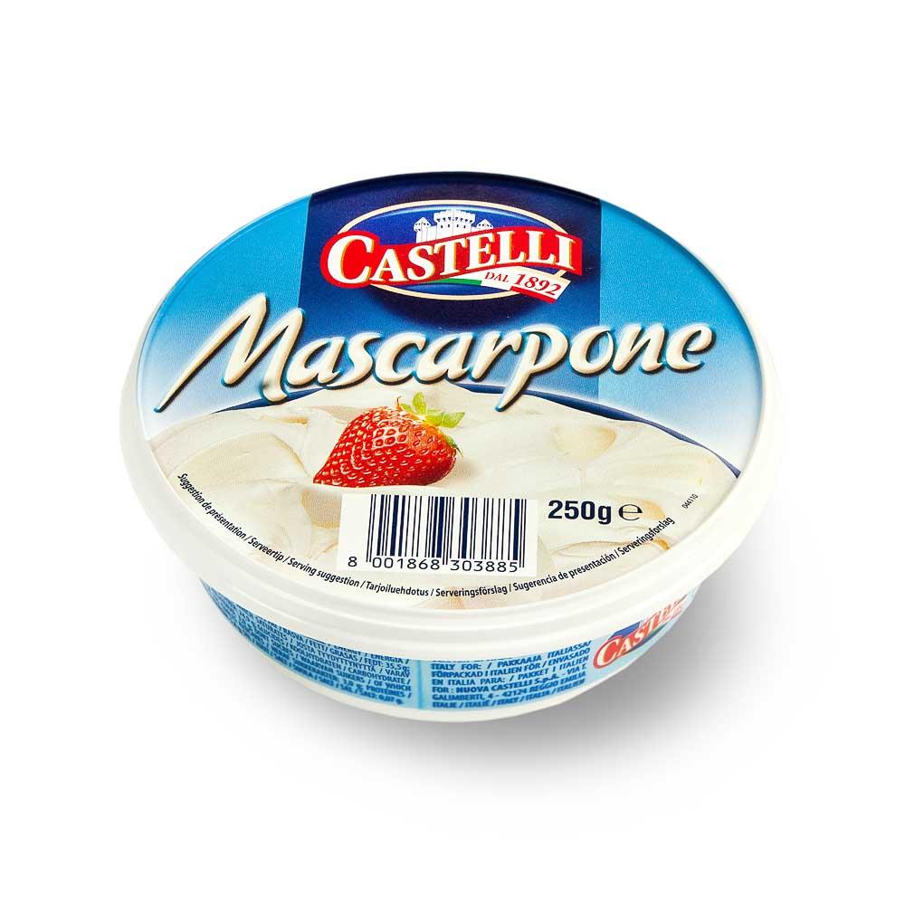 Maskarponės sūris CASTELLI, ekologiškas, 250g