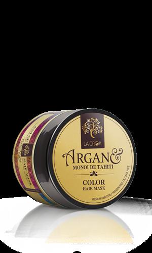 Kaukė dažytiems plaukams LA CROA COLOR praturtintas argano, makadamijos, linų ir Monoi de Tahiti aliejais, 200 ml.