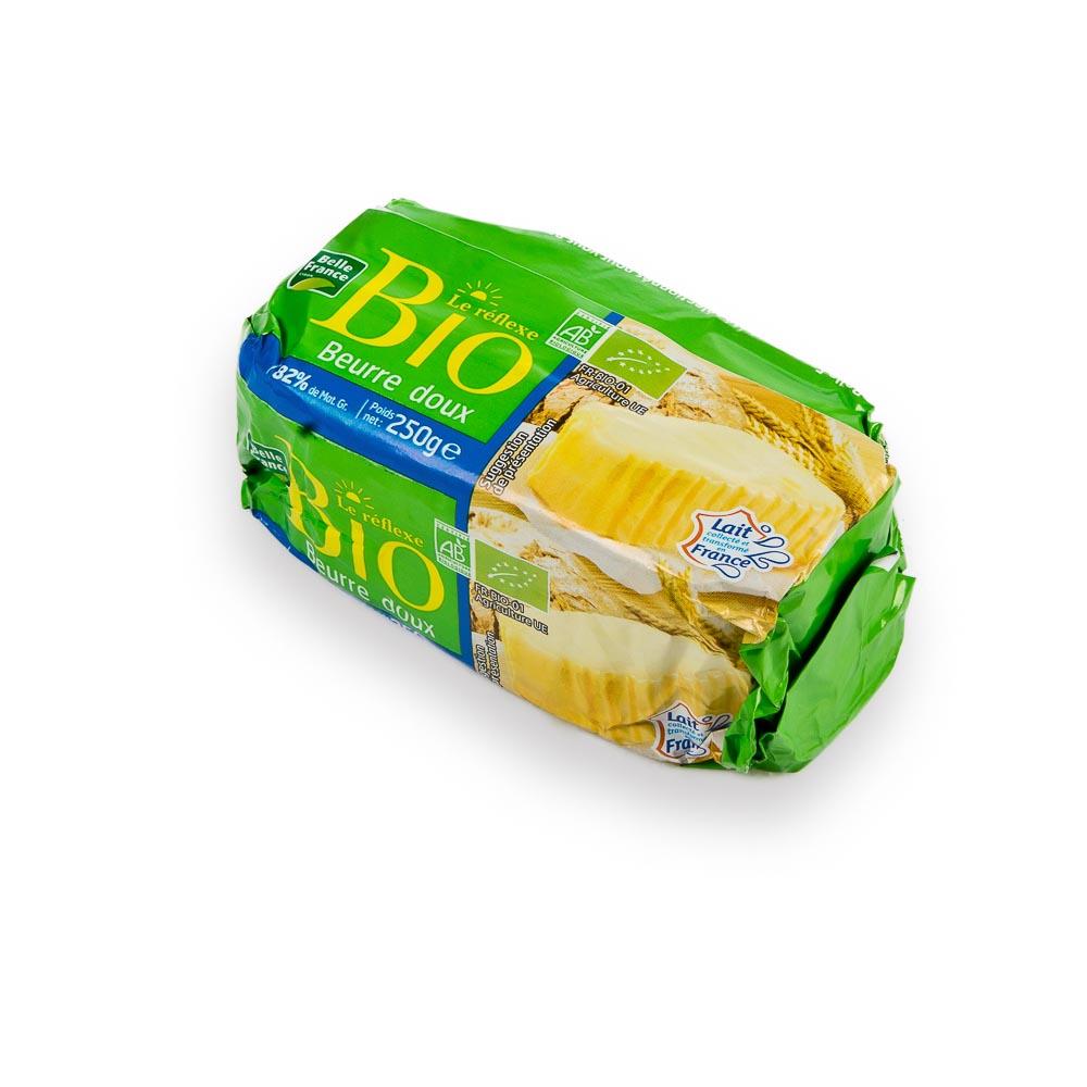 Saldžios grietinėlės sviestas 82% riebumo, ekologiškas, 250g