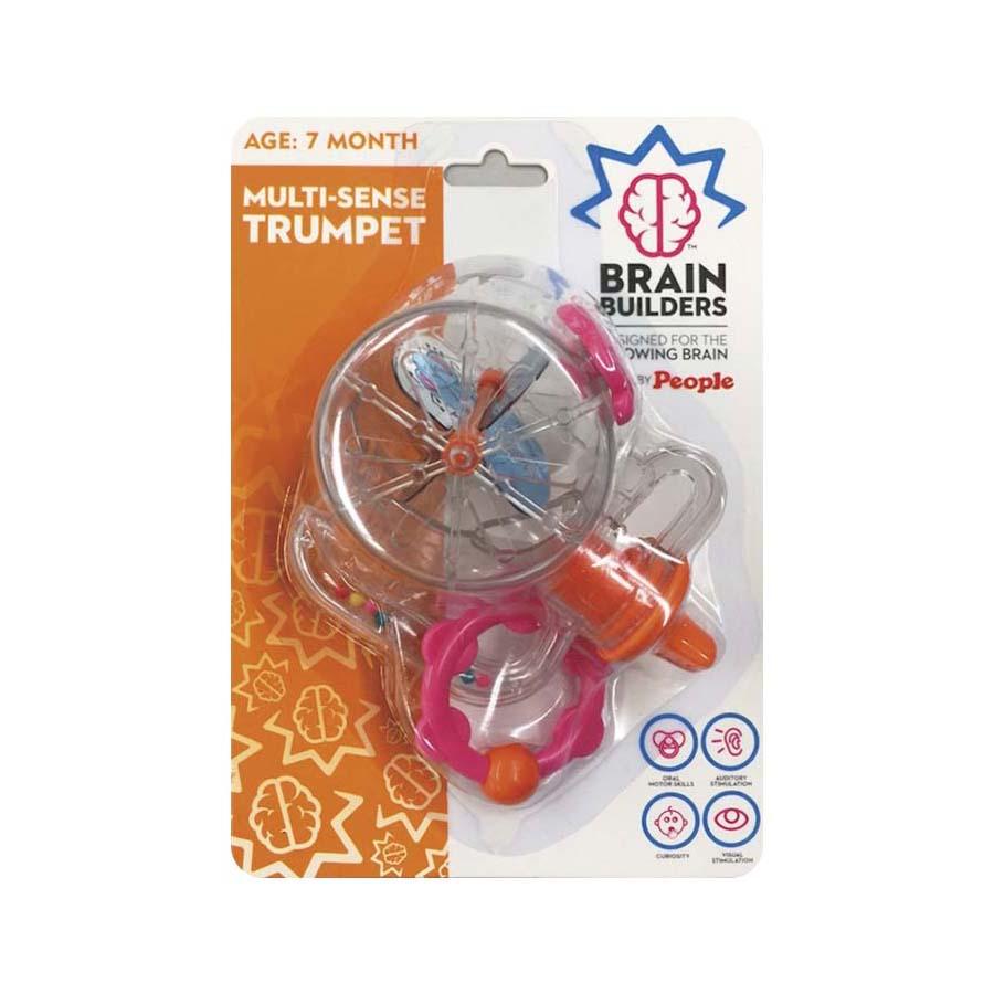 """Multi-pojūčių BRAIN BUILDERS žaislas """"Trimitas"""" nuo 7 mėn., 1 vnt."""