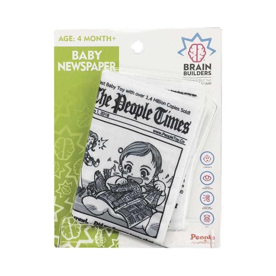 """Neplyštantis BRAIN BUILDERS laikraštis """"Kūdikių žinios"""" nuo 4 mėn., 1 vnt."""