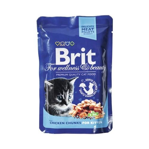 Konservas katėms BRIT PREMIUM Chicken Chunks Kitten, 100 g