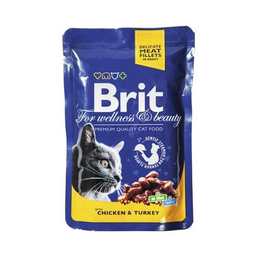 Konservas katėms BRIT PREMIUM Chicken&Turkey, 100 g