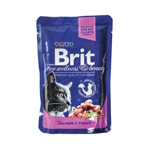 Konservas katėms BRIT PREMIUM Salmon&Trout, 100 g