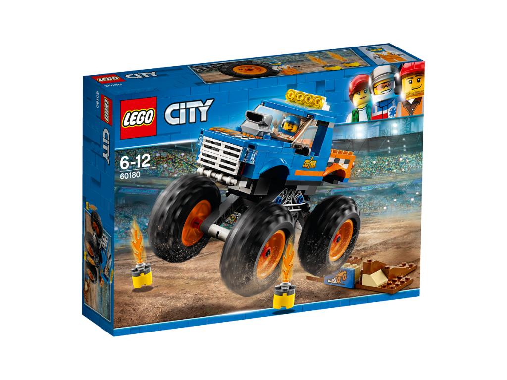 Sunkvežimis monstras LEGO CITY 6 – 12 metų vaikams (60180)