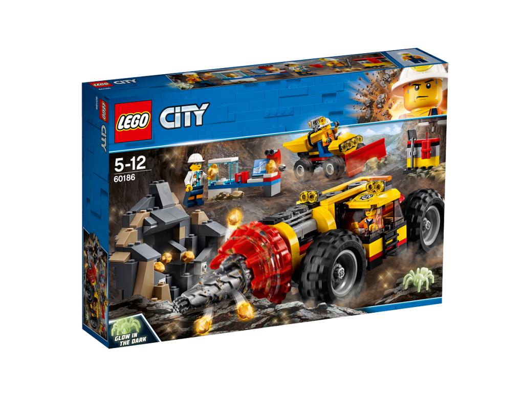 Kalnakasių gręžimo įrenginys LEGO CITY 5 – 12 metų vaikams (60186)