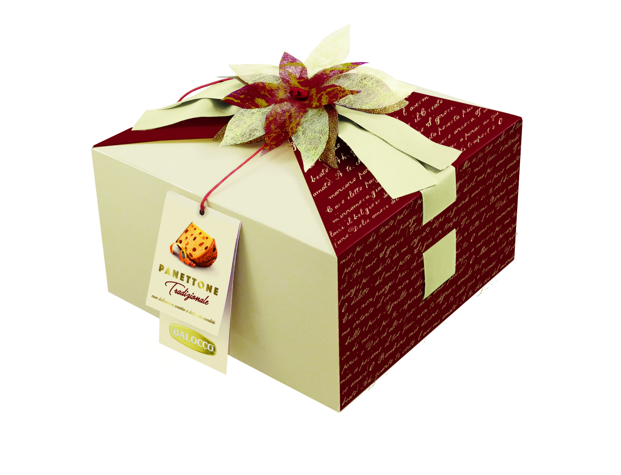 Kalėdinis pyragas Balocco Panettone Mandorlato su razinomis ir cukatais, 1kg
