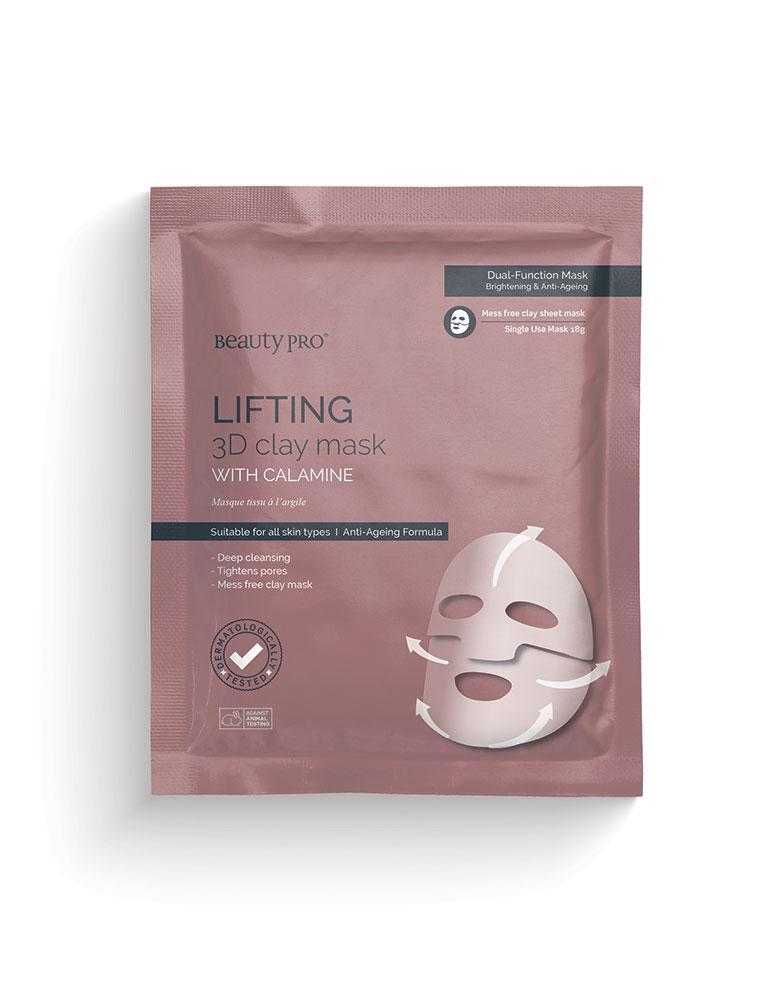 Liftinguojanti veido kaukė su kalaminu BEAUTY PRO Lifting 3D, 18g.