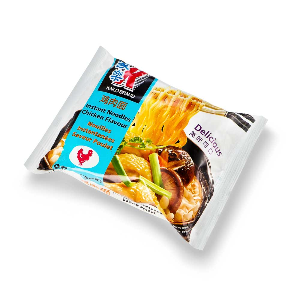 Greitai paruošiami vištienos skonio makaronai KAILO BRAND 85g