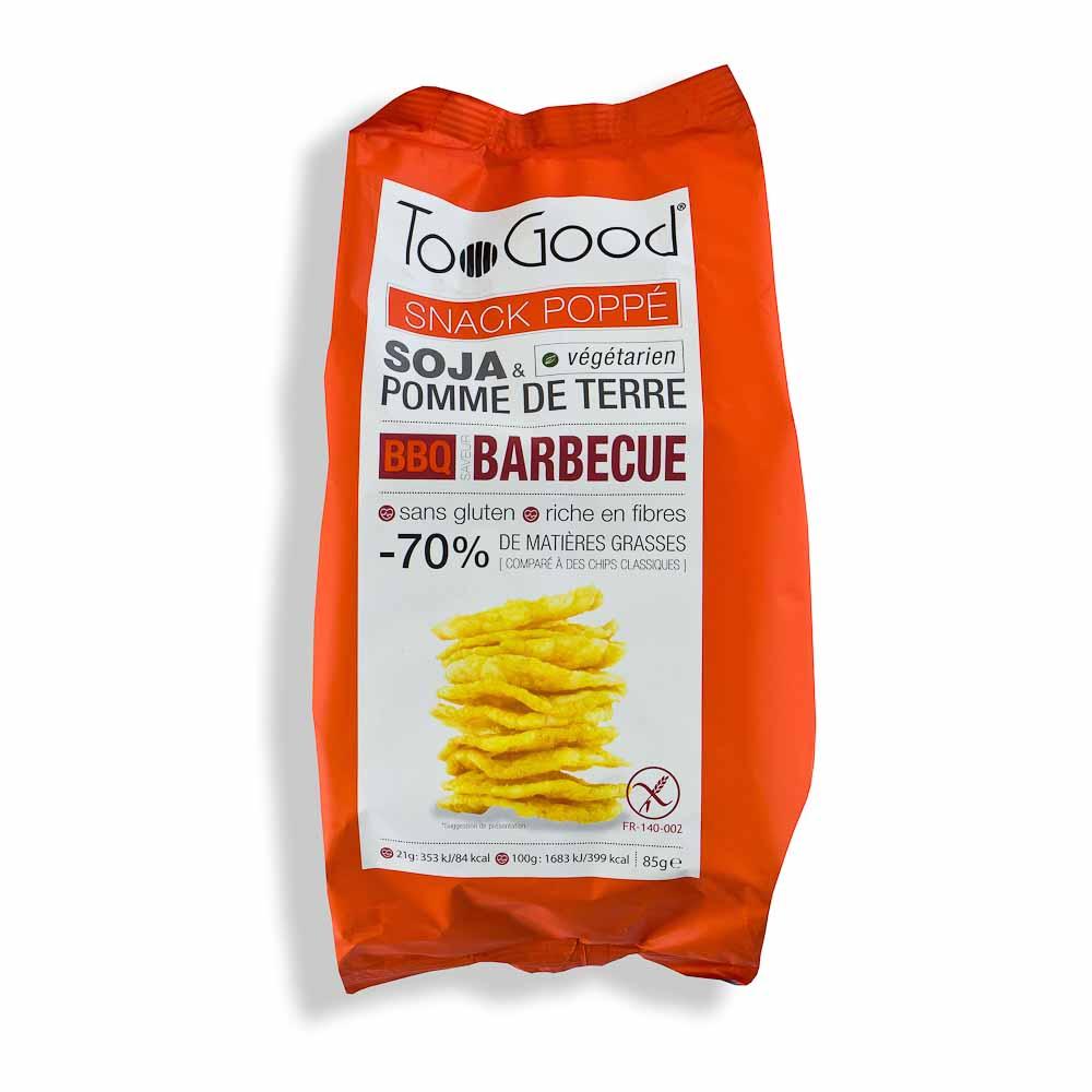 Spragintų sojų ir bulvių trapučiai TOO GOOD, barbekiu padažo skonio (be glitimo), 85g