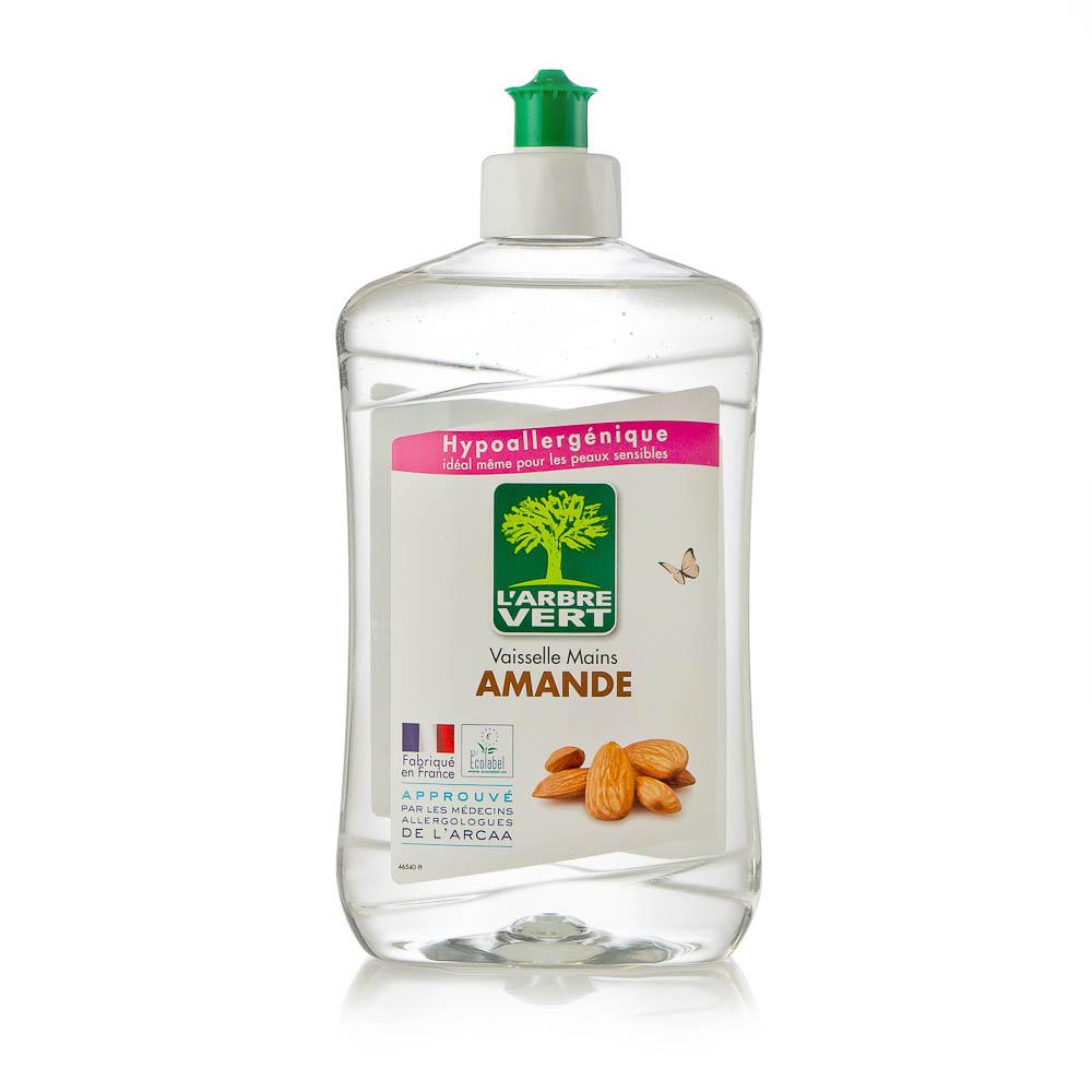 Ekologiškas indų ploviklis L'ARBRE VERT migdolų kvapo, 500 ml