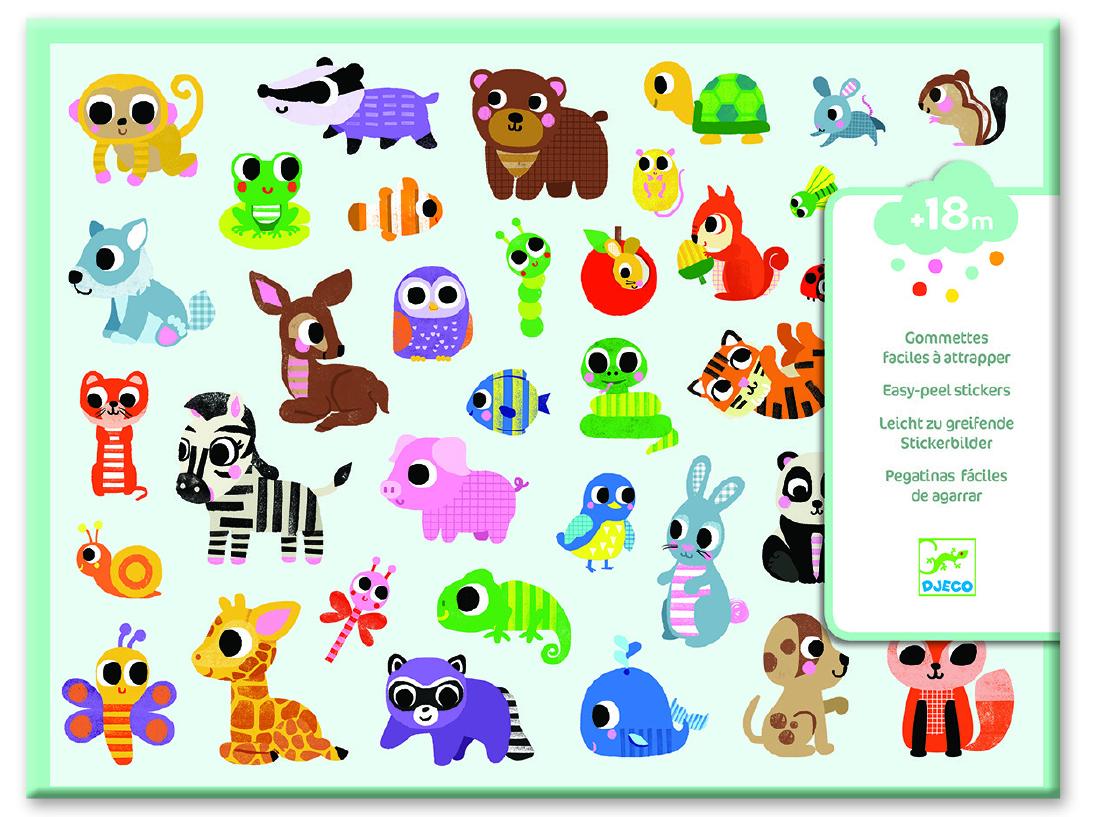 Kūrybinis lipdukų rinkinys DJECO Baby Animals (DJ09085)