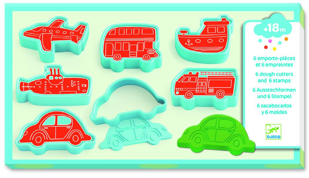 Modelinas su formelėmis ir antspaudukais DJECO Vehicles (DJ09025)