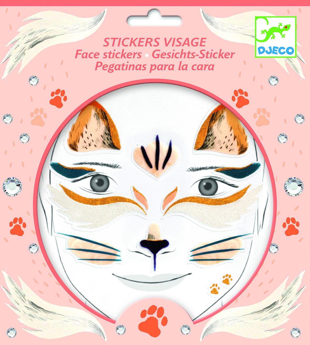 Veido lipdukai vaikams DJECO Cat (DJ09214)