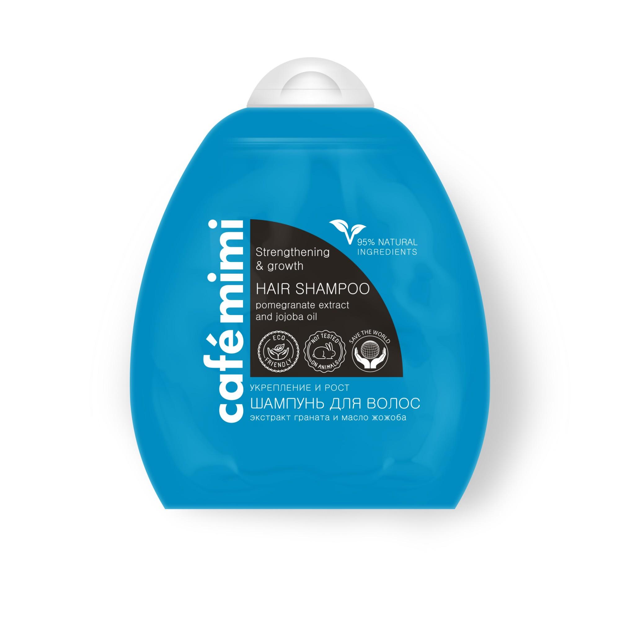 Stiprinamasis šampūnas CAFĖ MIMI skatinantis plaukų augimą, 250 ml
