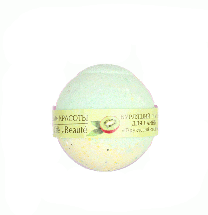 """Rankų darbo putojantis vonios burbulas CAFĖ BEAUTĖ """"Vaisinis šerbetas"""", 100 g"""