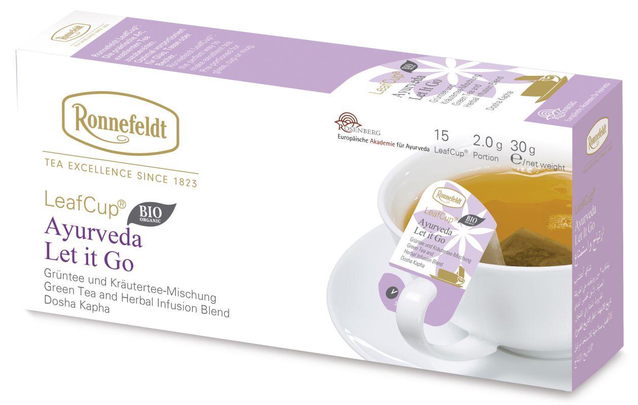 Žaliosios arbatos ir žolelių mišinys LeafCup® Ajurveda Let it go 15 vnt.