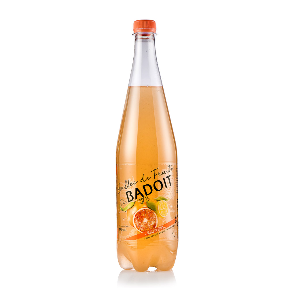 Natūralaus mineralinio vandens gėrimas BADOIT, greipfrutų ir citrinų skonio 1L