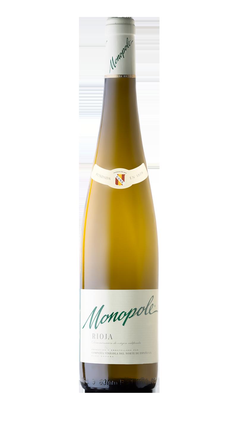 Baltasis sausas rūšinis vynas CUNE MONOPOLE RIOJA pagamintas Rioja regione, Ispanijoje