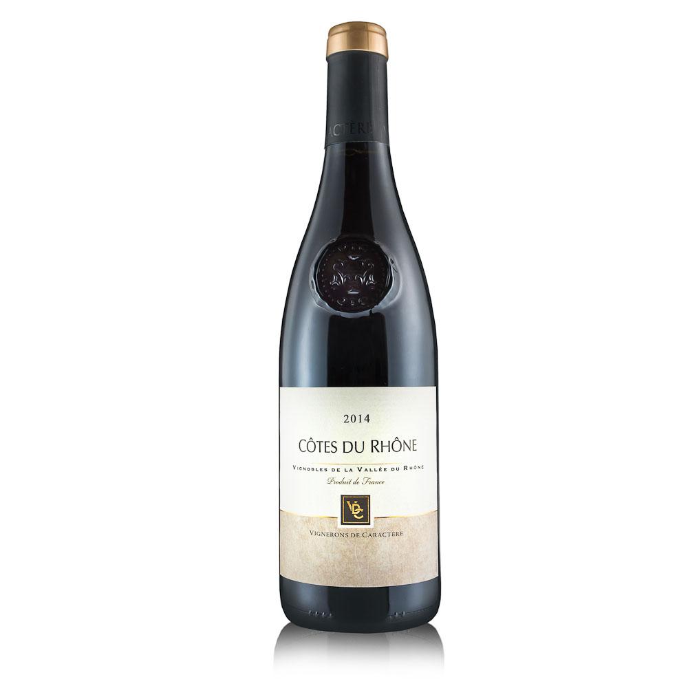 Raudonas vynas Vignerons De Caractere Cotes Du Rhone red 14% 0,75L
