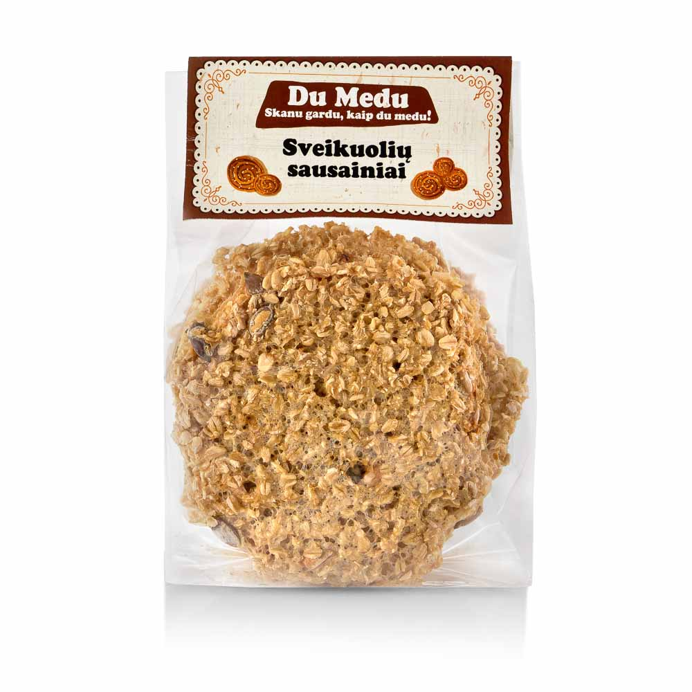 Ekologiški sveikuolių sausainiai DU MEDU, 150g