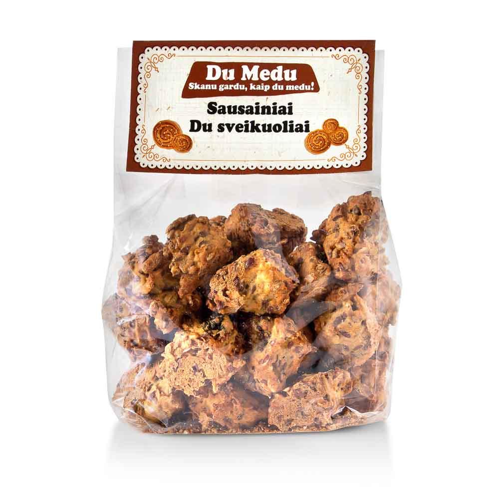Ekologiški sausainiai Du sveikuoliai Du medu, 250g
