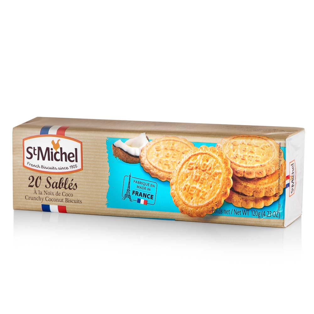 Smėlinės tešlos sausainiai ST MICHEL, su kokosu riešutais, 120g