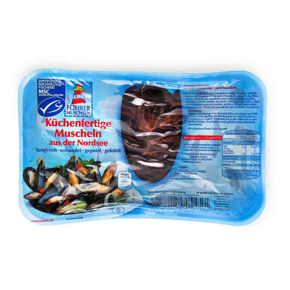 Šiaurės jūros midijos FOHRER MOSCHELN, 1,5kg