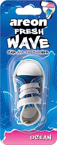 Automobilinis oro gaiviklis AREON Fresh Wave, jūros aromato, 1 vnt.