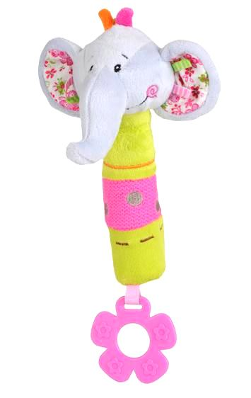 Medžiaginis žaislas skleidžiantis garsus BABYONO su kramtuku vaikams nuo 6 mėn. (1193)