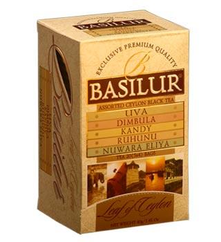 BASILUR stambių lapų ceilono juodoji arbata earl grey aromatu ir lengvu  karamelės aromatu,40g