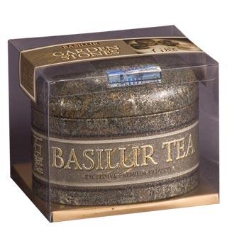 biri stambių lapų ceilono juodoji arbata Garden Stones Basilur,100g