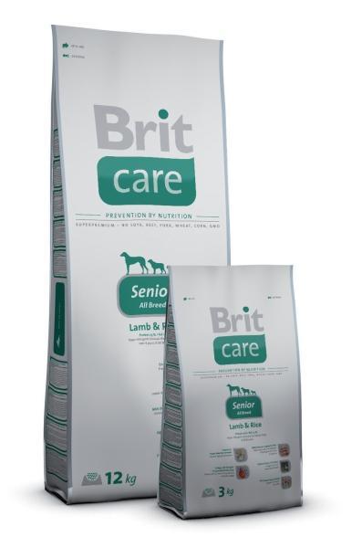 BRIT CARE Senior All Breed Lamb & Rice hipoalerginis pašaras šunims, 3kg