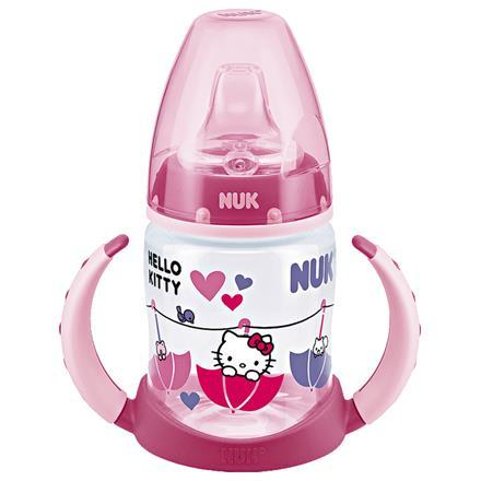 Mokomasis neišsipilantis buteliukas su silikoniniu snapeliu NUK First Choice Hello Kitty 6-18 mėn. kūdikiams, 150 ml (10215172)
