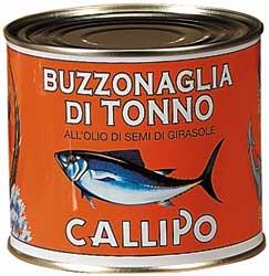 BUZZONAGLIA Šviesieji ir tamsieji tunų gabalėliai saulęgrąžų aliejuje, 620g